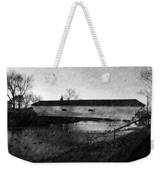 Covered Bridge Elizabethton Tennessee C. 1882 Weekender Tote Bag