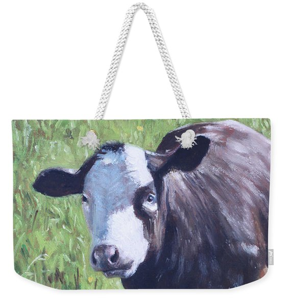 Cow In Grass Weekender Tote Bag