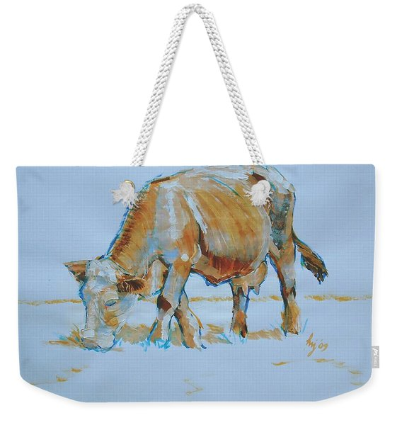Cow Painting Weekender Tote Bag