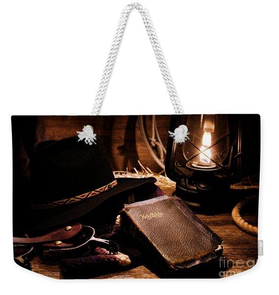 Cowboy Bible Weekender Tote Bag