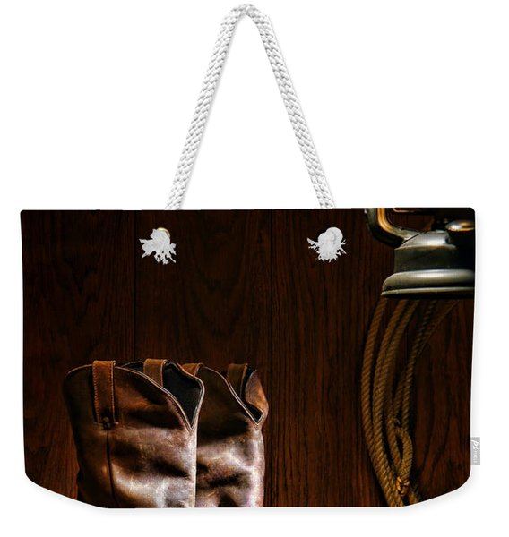 Cowboy Boots At The Ranch Weekender Tote Bag