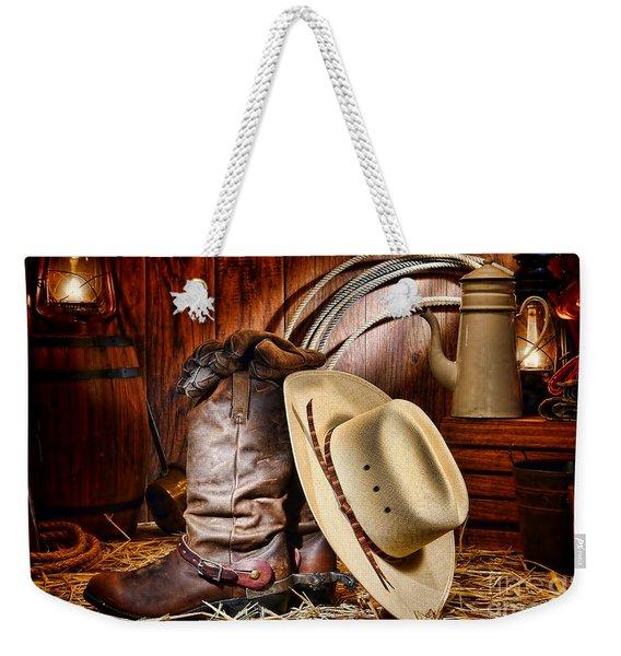 Cowboy Gear Weekender Tote Bag