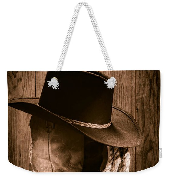 Cowboy Hat And Boots Weekender Tote Bag