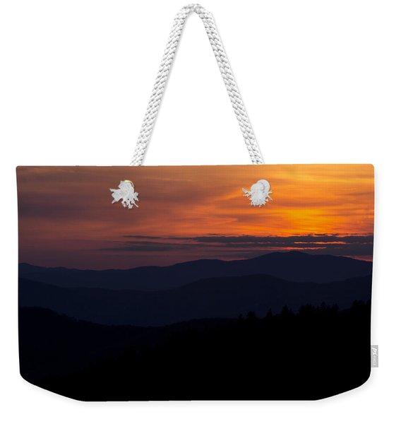 Cowee Mountain Overlook #2 Weekender Tote Bag