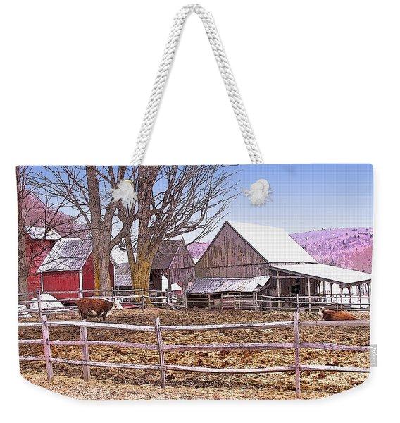 Cows At Jenne Farm Weekender Tote Bag