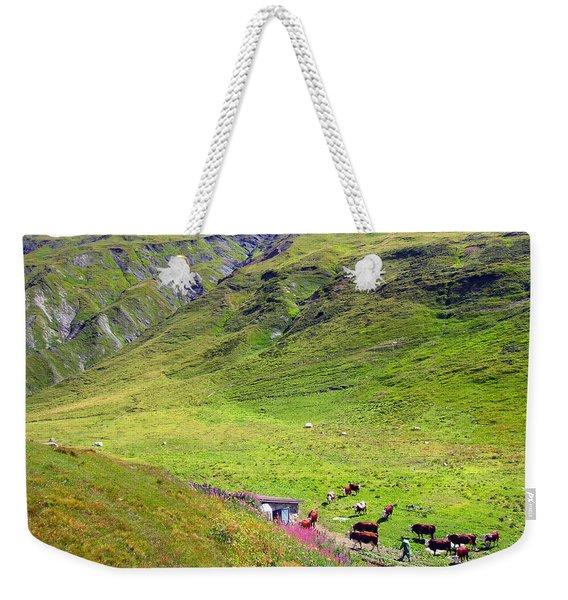 Cows In A Valley Weekender Tote Bag