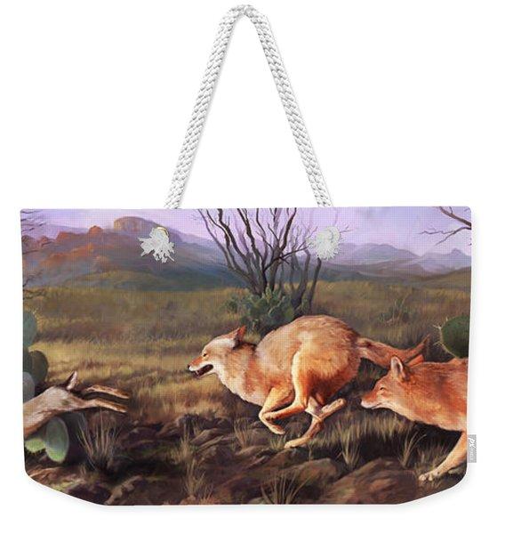 Coyote Run Weekender Tote Bag