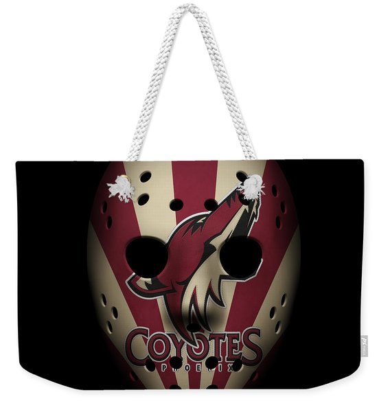 Coyotes Goalie Mask Weekender Tote Bag