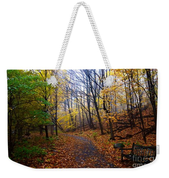 Cozy Fall Corner Weekender Tote Bag