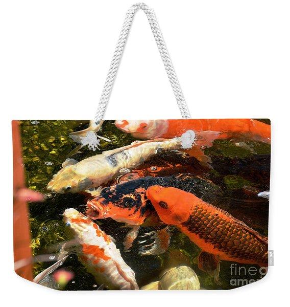 Cozy Koi Weekender Tote Bag