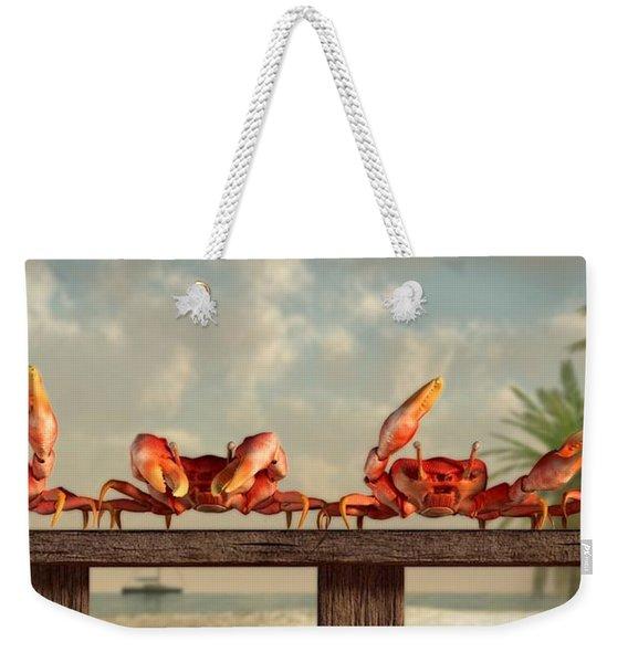 Crab Dance Weekender Tote Bag