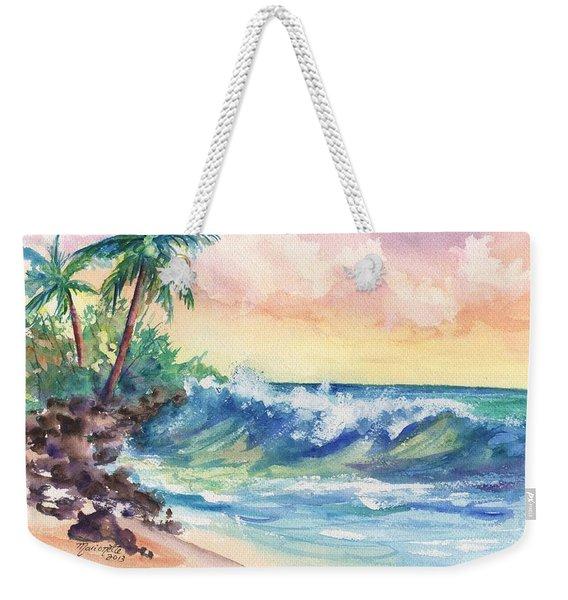 Crashing Waves At Sunrise Weekender Tote Bag