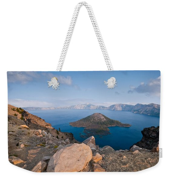 Crater Lake In The Evening Weekender Tote Bag