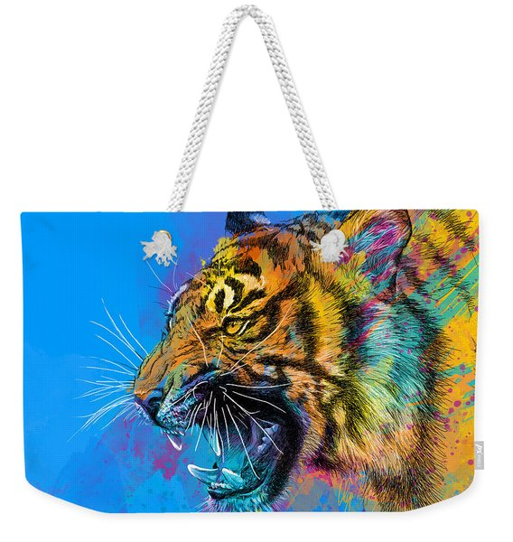 Crazy Tiger Weekender Tote Bag