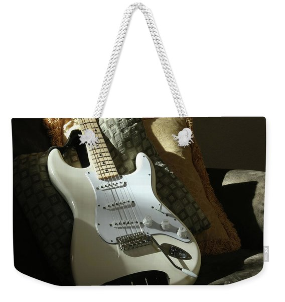 Cream Guitar Weekender Tote Bag
