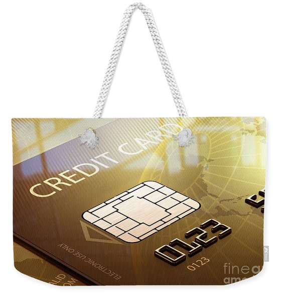 Credit Card Macro - 3d Graphic Weekender Tote Bag