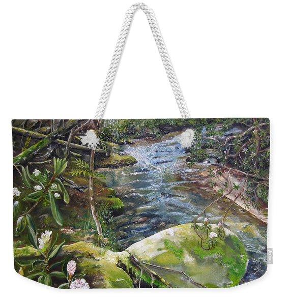 Creek -  Beyond The Rock - Mountaintown Creek  Weekender Tote Bag
