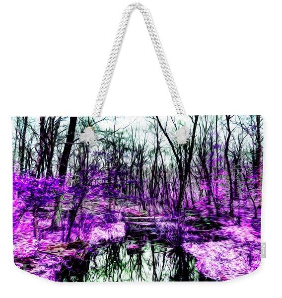 Creek By Purple Weekender Tote Bag