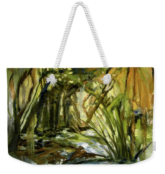 Creek Levels With Overhang Weekender Tote Bag