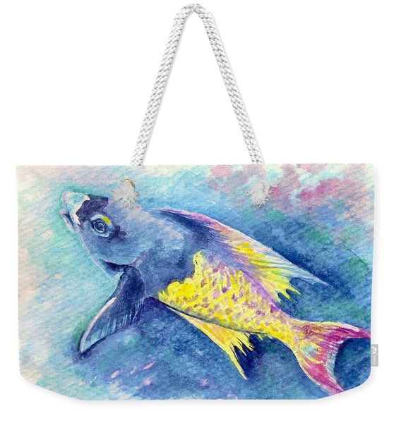 Weekender Tote Bag featuring the painting Creole Wrasse by Ashley Kujan