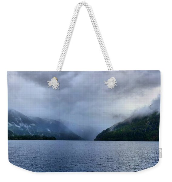 Crescent Lake Weekender Tote Bag