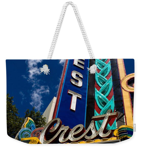 Crest Theater Weekender Tote Bag