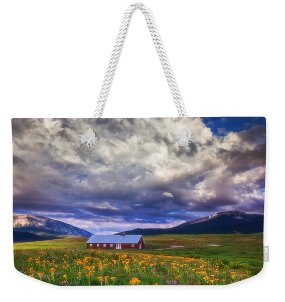 Crested Butte Morning Storm Weekender Tote Bag