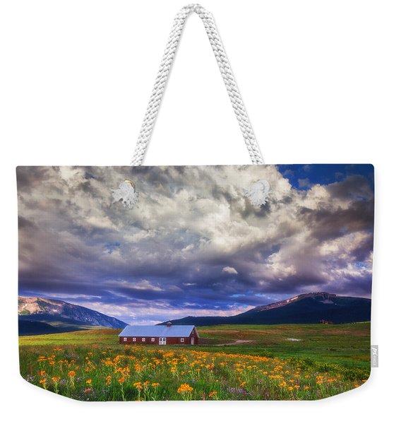 Crested Butte Morning Storm Weekender Tote Bag