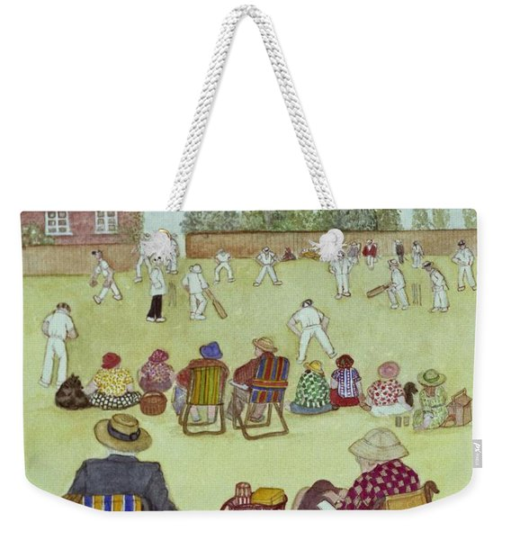 Cricket On The Green, 1987 Watercolour On Paper Weekender Tote Bag