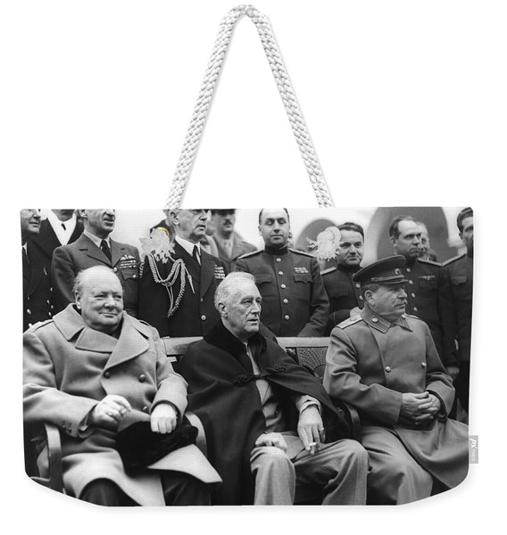Crimean Conference In Yalta Weekender Tote Bag