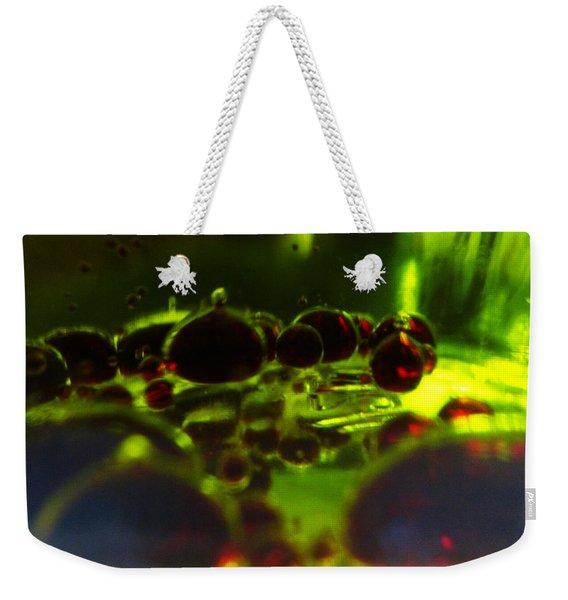 Crimson Bubbles Weekender Tote Bag