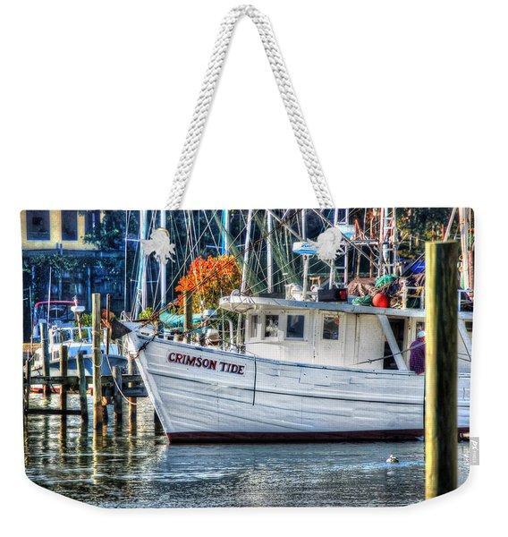 Crimson Tide In Harbor Weekender Tote Bag