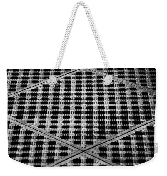 Criss Cross Weekender Tote Bag