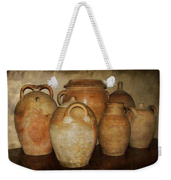 Crocks And Jugs Weekender Tote Bag