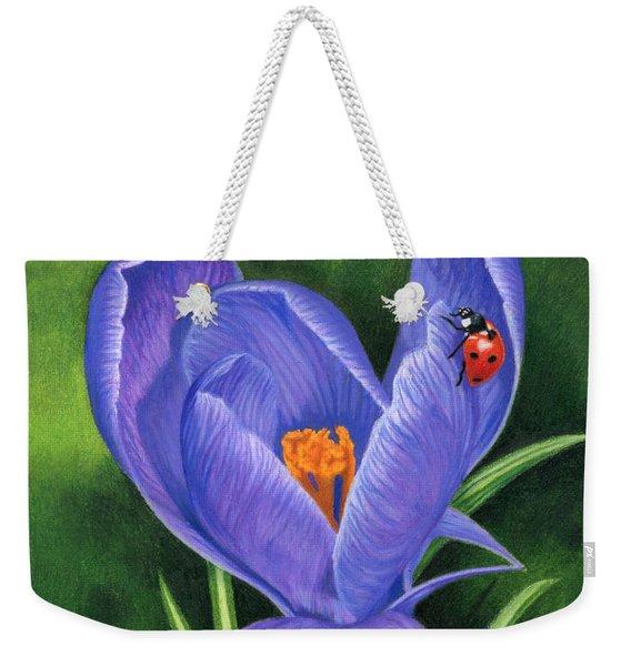 Crocus And Ladybug Weekender Tote Bag