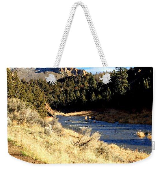 Crooked River December Morning Weekender Tote Bag