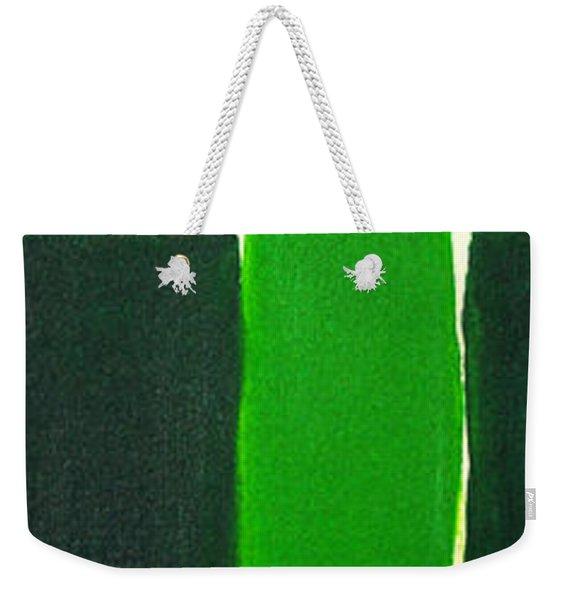 Green Cross On Hill Weekender Tote Bag