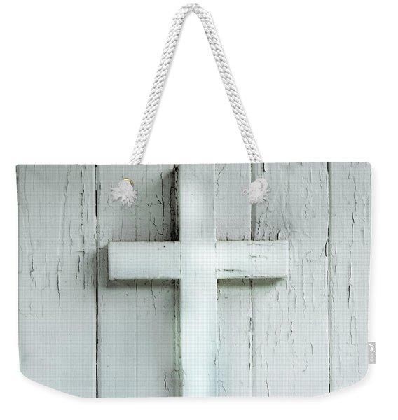 Cross On Holy Angels Sugar Island Michigan Weekender Tote Bag