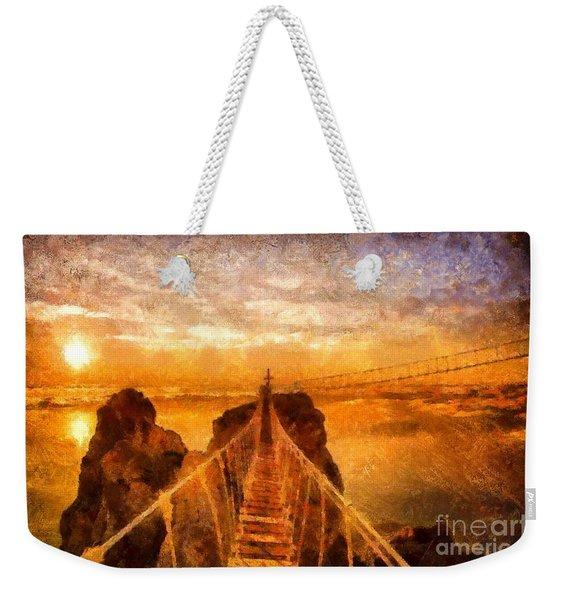 Cross That Bridge Weekender Tote Bag