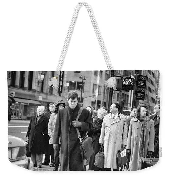 Crossing Manhattan Weekender Tote Bag
