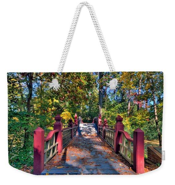 Crossing The Crim Dell Bridge Weekender Tote Bag