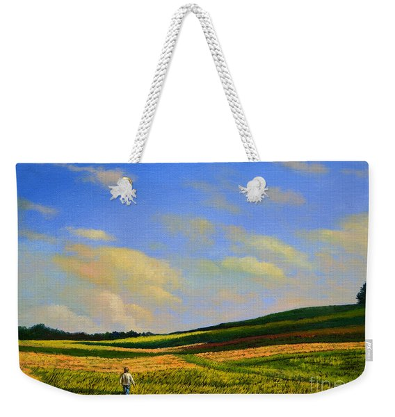 Crossing The Field Weekender Tote Bag