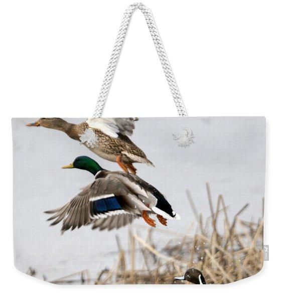 Crowded Flight Pattern Weekender Tote Bag