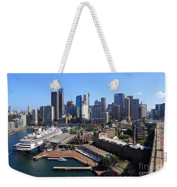 Cruiser Ship In Sydney Weekender Tote Bag