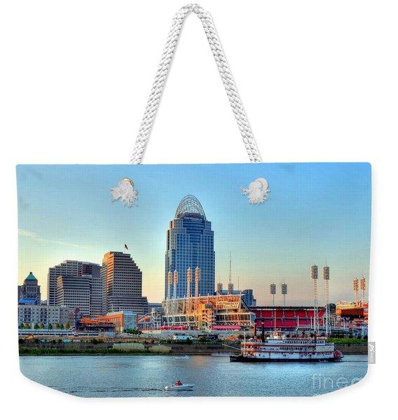 Cruising By Cincinnati Weekender Tote Bag