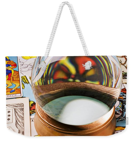 Crystal Ball And Tarot Cards Weekender Tote Bag