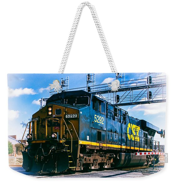 Csx 5292 Warner Street Crossing Weekender Tote Bag