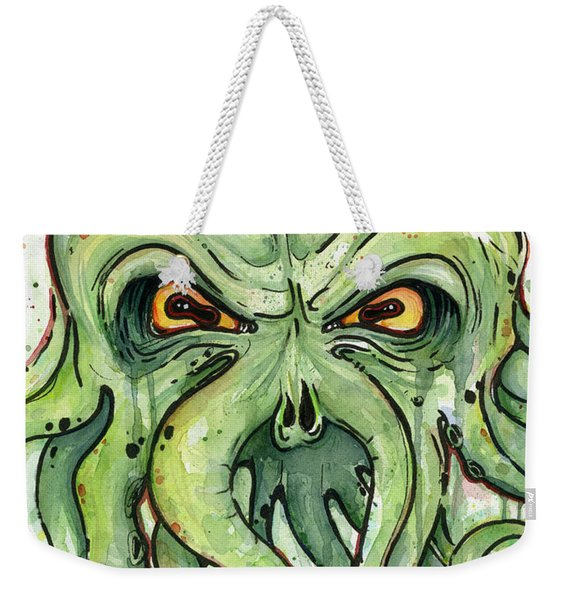 Cthulhu Watercolor Weekender Tote Bag