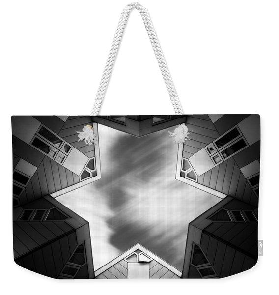 Cubic Star Weekender Tote Bag