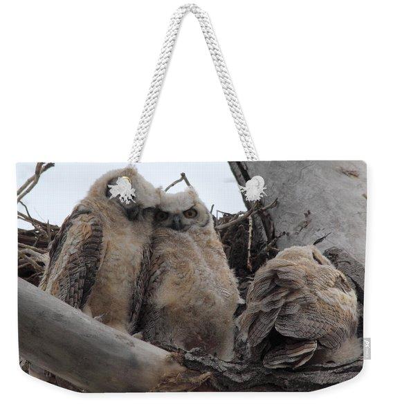 Cuddling Up Weekender Tote Bag